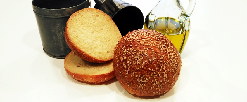 Panecillos de hamburguesa con masa madre